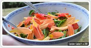 cuisine vapeur recettes minceur recette bio minceur salade composée à l hémérocalle et coquelicot