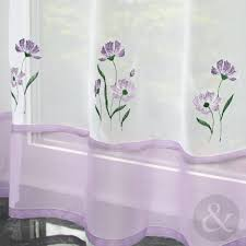 White Curtains With Yellow Flowers Café Net Curtains Kitchen Nets Ready Made Voile Curtain Panel