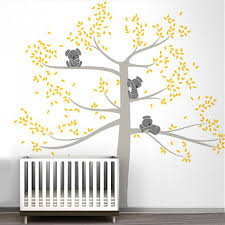 Removable Wall Decals For Nursery Large Size Wall Stickers Tree For Room Baby Nursery Koala