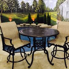 Bar Height Patio Set With Swivel Chairs Stylish Decoration Bar Height Patio Furniture Strikingly Design