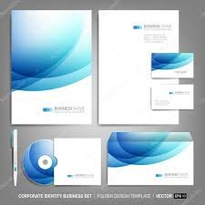 corporate identity template for business artworks u2014 stock vector