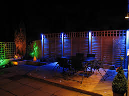 fabulous outdoor living room decoration using outdoor blue led