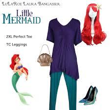 Ariel Mermaid Halloween Costume Lularoe Disneybounding Ariel