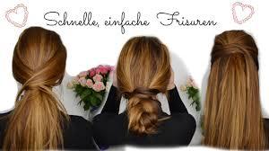Schnelle Frisuren F Lange Haare Mit Pony by Einfache Schnelle Frisuren I Lange Mittellange Haare
