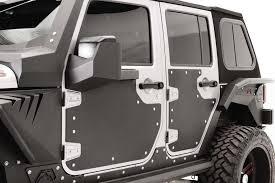 jeep matte white fab fours door skin armor for 07 17 jeep wrangler jk quadratec