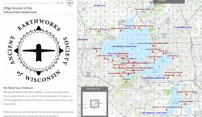 Wisconsin Dells Map by Mound Sites Ancient Earthworks Society Of Wisconsin