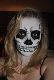 face painted skeleton face skull face paint by ellefx on