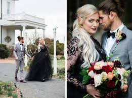 Black Wedding Dress This Dc Couple U0027s Southern Gothic Anniversary Photoshoot Will Make