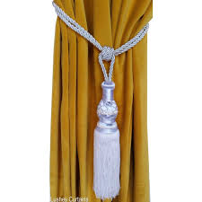 Curtain Rope Tie Backs White Curtain Tie Backs Tassel Rope Tiebacks