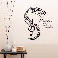popular stickers music notes buy cheap stickers music notes lots dctop music is the medicine of the mind wall stickers musical notes stave home decor living