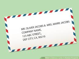 how to address a letter to multiple recipients 15 steps