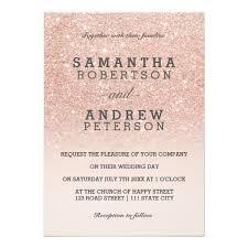 Popular Personal Wedding Invitation Cards Sparkle Pink Pastel Black Personalized Custom Writing Glitter