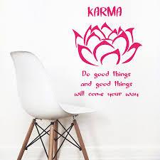 Lotus Flower Wall Decal Om by Wall Vinyl Decal Room Sticker Yoga Buddha Quote Gym Lotus Flower