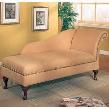 Microfiber Sofa With Chaise Lounge by Coaster Furniture 550058 Microfiber Chaise Lounge With Flip Open