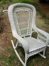 White Wicker Armchair Refurbishing A White Wicker Rocker Crafts A La Mode