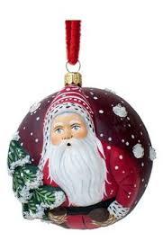 breen santa with three snowmen ornament mercury glass