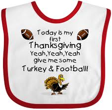 inktastic today is my thanksgiving baby bib happy turkey