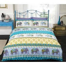 ethnic indian style duvet cover with elephant u0026 paisley print