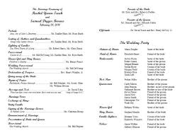 simple wedding program template christian wedding ceremony program exles alfa img showing