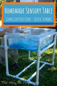 how to build a sensory table diy castle sensory table encouragement cup crayon art