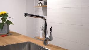 hansgrohe metris single lever kitchen mixer 320 14821000 youtube