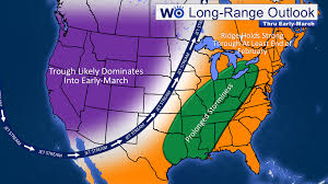 Jet Stream Map Long Range Forecast For End Of February Into Early March