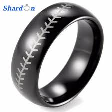 Baseball Wedding Ring by Aliexpress Com Buy Shardon Mens Ring 8mm Dome Tungsten Carbide