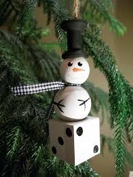 dice snowman ornament bunco gift prize 6 ornaments for 55