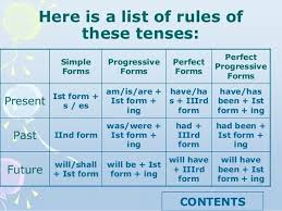 what is the technique to remember the of tenses in