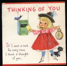12 best vintage thinking of you cards images on