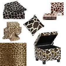 ottomans leopard print footstool cowhide storage ottoman genuine
