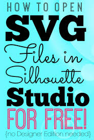 Free Silhouette Images Opening Svgs In Silhouette Studio For Free Without Designer