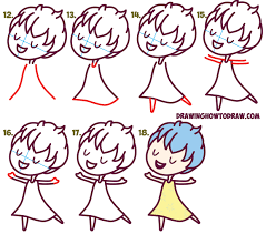 how to draw cute kawaii chibi joy from inside out easy step by