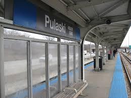 Chicago Subway Station Map by Pulaski Station Cta Blue Line Wikipedia