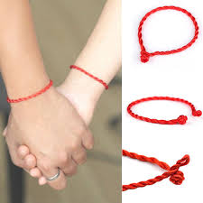 simple rope bracelet images 10 pcs hand braided chinese red simple style lucky string rope jpg
