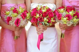 pink combination pink and green bouquets a beautiful wedding color combination