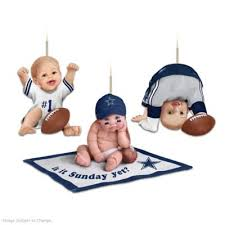 nfl dallas cowboys baby ornament collection born to be a cowboys fan