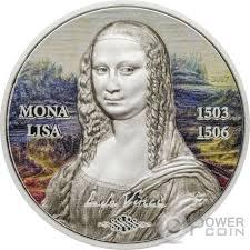 Mona Mona Lisa Gioconda Art Revived 1 Oz Silver Coin 5 Palau 2017