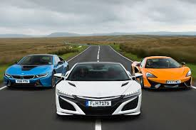 mclaren supercar 2017 honda nsx vs bmw i8 vs mclaren 570s supercars compared autocar