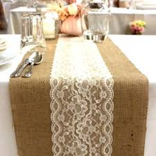how to make burlap table runners for round tables burlap and lace table runners your choice of white or ivory lace 5