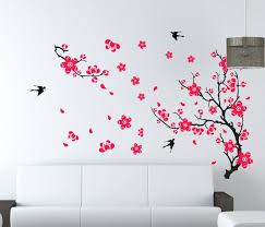 wall decals flowers and butterflies flower wall art decor