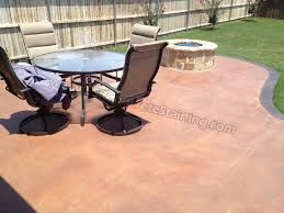 stained concrete patio houston landscaping gardening ideas