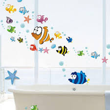 compare prices on bubbles wall sticker online shopping buy low lovely tropical cartoon fish sea bubble ocean world removable wall sticker decal washroom baby room decor