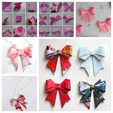 paper ribbon wonderful diy origami paper bow