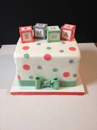 coral baby shower coral mint gray baby blocks baby shower cake marshmallow c flickr
