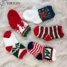 fuzzy christmas socks hirigin christmas socks children cotton jacquard socks