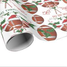 football wrapping paper sports christmas gift wrap whimsicalartwork