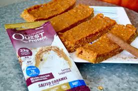 diy baked caramel pumpkin pie latte protein bars fresh fit n