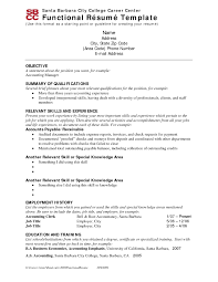 functional resume format sample functional resume example project