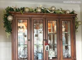 China Cabinet Decor Christmas House Tour 2012 Glittery Gold U0026 Silver Dining Room